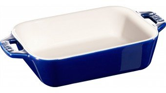 Prostokątny półmisek ceramiczny Staub - niebieski
