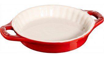 Okrągły półmisek ceramiczny do ciast Staub - czerwony