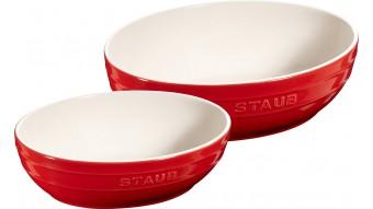 Zestaw 2 misek okrągłych Staub - czerwone
